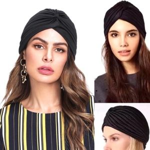 Fashion Gypsy boho turban wrap style beanie hat